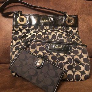 3 pc. Coach purse, wallet, and wristlet set.